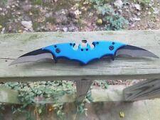 "10.25"" BATMAN DUAL BLADE BLUE (SPRING ASSISTED) FOLDING KNIFE Dark Knight Joker"