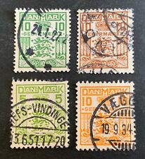 Denmark 🇩🇰 1926-1934 - 4 used stamps