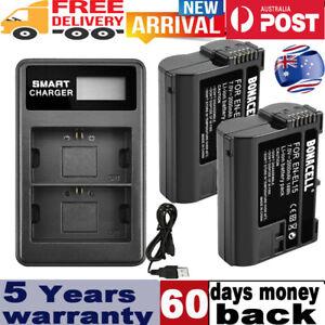 2x EN-EL15 2800mAh Battery +Dual Charger for Nikon D7000 D7100 D800 D800E D7200