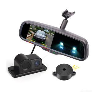 """4.3"""" Car Mirror Monitor No1 Bracket+2-In-1 Parking Radar Sensor Reversing Camera"""