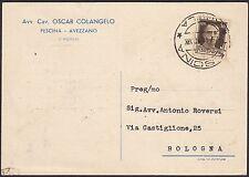 AA4307 Avv. Ca. Oscar Colangelo - Pescina - Avezzano - Cartolina Pubblicitaria