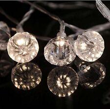 10 LED Luces Cuerda Diamante Joya-Operado Por Batería-uso en interiores