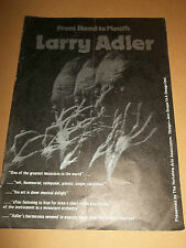 FROM HAND TO MOUTH LARRY ADLER ~ YORKSHIRE TOUR FLYER