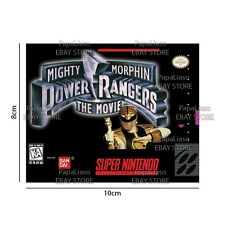 Power Rangers: The Movie SNES Super Nintendo Fridge Magnet 8X10cm Mighty Morphin