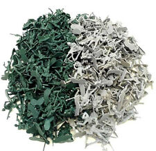 144 pc - Army Men Toy Soldiers Military Gray Green Colors