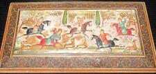 PERSIAN HORSE SCENE KHATAM INLAID WOODEN HUMIDOR INDIA BOX