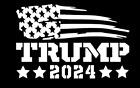 President Donald Trump Flag 2024 Vinyl Decal Sticker Car Truck