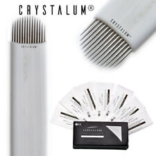 Microblading Blades Needles 14U x50 Disposable Eyebrow Tattoo Tool CRYSTALUM