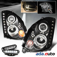 For 2003-2007 Infiniti G35 Coupe Black Projector Headlights+LED Fog Lights COMBO