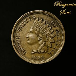 1859 Indian Head Cent 1c Penny, 061921-*24 Free Shipping!