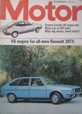 Motor magazine 1/3/1975 featuring Toyota Corolla 30 coupe, Guyson Doll, Monica