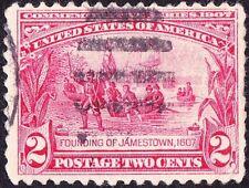 US - 1907 -  2 Cents Carmine Founding of Jamestown Commemorative Issue #329 Fine
