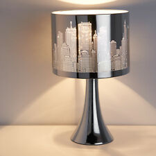 New Elegant BLACK CITY SCENE TOUCH LAMP Table Lamp Best House Gift