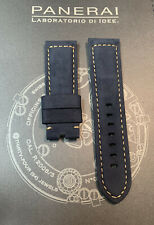 Panerai Blue OEM Suede Strap 24mm Lug for Tang Buckle