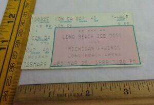 Long Beach Ice Dogs 3/25/1998 ticket v Michigan K-Wings hockey ORIGINAL