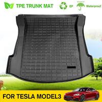 Black TPE Rear Trunk Floor Mat Cargo Liner Cargo Tray For Tesla Model 3
