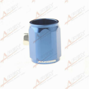 New AN-5 5AN HEX Finisher Clamp Fuel Hose Finishers Aluminum Alloy Blue