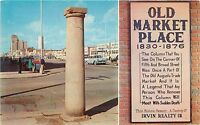 Haunted Column Old Market Place Fifth Broad Augusta Georgia old car Postcard