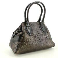 Rare Vintage Authentic Fendi Top Handle Tote Bag in Black & Gold