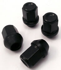 4 X 19MM Hex, M12 x 1,5 LEGA RUOTA DADI ALETTE bulloni in Nero per Ford Focus