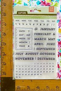 NEW CALENDAR STAMPS by Basic Grey journal date day week month year october may