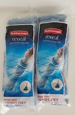 Rubbermaid Reveal Twist Action Mop Refill Lot of 2 New Washable