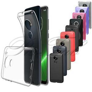 For Motorola Moto G8 E6 G7 E5 G6 Macro Plus Power Play Carbon Fibre Phone Case