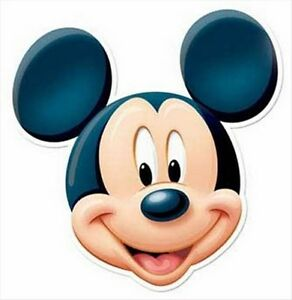 Mickey Mouse Official Disney Single Fun CARD Party Face Mask