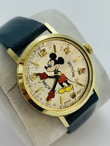 Vintage Swiss made Mickey Mouse Manual Wind  watch . Circa 1978