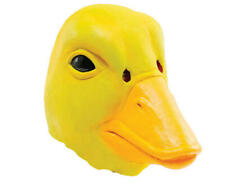 Duck Rubber Mask Fancy Dress Costume Outfit Prop Yellow Ducks Head