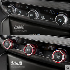 Red Air Conditioning+Audio+Function Button Circle For 2018 Honda Accord 3PCS