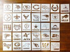 "All 32x NFL Team Logos 4""x4"" Custom Stencil 32 Pieces Fast Free Shipping"