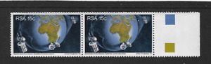 1975 South Africa - Satellite Communications - Horizontal Pair - MNH.