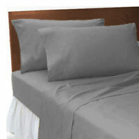 NEW GREY T-200 100% EGYPTIAN COTTON FITTED BED SHEET AVAILABLE IN KING SIZE