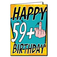 59+ Middle finger - Birthday Age Relation Male Female Birthday Card A26