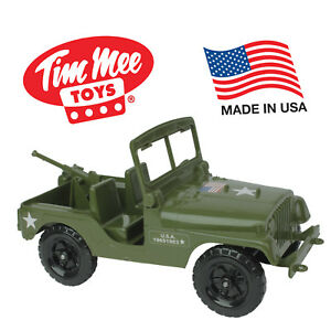 TimMee Processed Plastic Willys Jeep MD M38A1 Tim Mee Action Figure 1:16 Scale