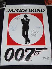 Pierce Brosnan Judi Dench James Bond 007 Signed Poster - Richard Jaws Kiel Etc.