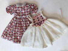 "10"" Doll Boneka Dianna Effner Tuesdays Child Smocked Pinafore Heart Dress 24cm"