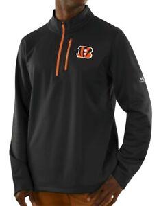 """Cincinnati Bengals Majestic NFL """"Scoring"""" Men's 1/2 Zip Midweight Sweatshirt"""