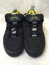 2 Fish Floater Shoe Works Mens Blue Yellow Suede Skate Shoes UK Size 7 BNWOB