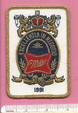 Miller Beer Alcoholic Beverage Breweriana Emblem Patch - Excellentia In Negotio