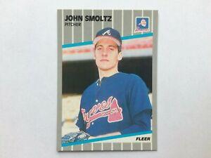 1989 Fleer Glossy #602 John Smoltz Rookie Card RC