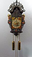 FOLKLORE DUTCH HINDELOOPEN 8 DAY FRIESE OR FRIESIAN STOEL WALL CLOCK