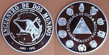 NICARAGUA Año 1994. 5 Córdobas Plata. 2ª SERIE IBEROAMERICANA. MONO CONGO.