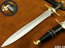 "SUPERB HANDMADE 15"" STAINLESS STEEL DAGGER HUNTING KNIFE W/SHEATH (4393-19"