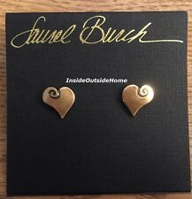 Laurel Burch Open Hearts Post Earrings Gold Tone NEW Retired