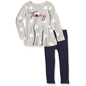 Tommy Hilfiger Toddler Girls' 2-Pc. Stars Peplum Top & Legging Set, Size 2T,NwT