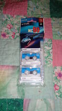 New Sealed TDK Microcassette MC90 MC-90 Tape 3 Pack For Sony & Other Recorders