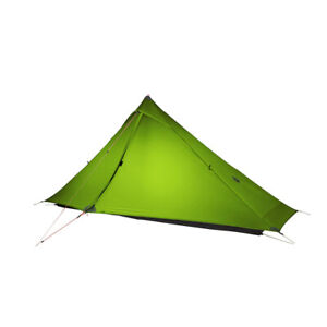 1 Person Outdoor Ultralight Camping Tent 3 Season Professional 20D Nylon Both
