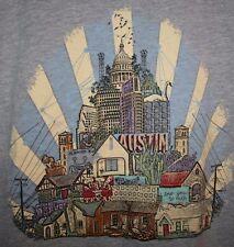 Mens GOOGLE FIBER Austin ATX Texas TX Keep Weird Wired Soft Canvas TShirt MEDIUM